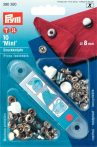 PRYM fém patent (8 mm, ezüst)