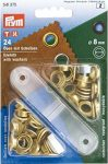 PRYM fém ringli (8 mm, arany)