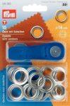 PRYM fém ringli (14 mm, ezüst)