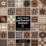 Japán taupe patchworkblokkok - 125 blokk és modellek