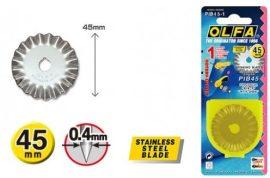 OLFA körkés penge 45 mm  (cikkcakk)