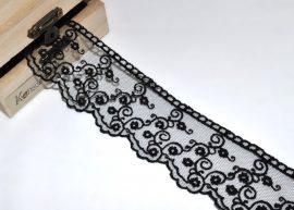 Fekete, tüll (25 mm)