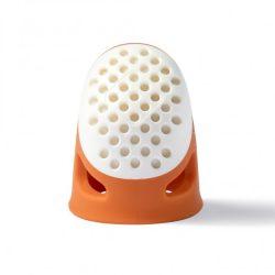 PRYM ergonomikus gyűszű (S-es, narancssárga)